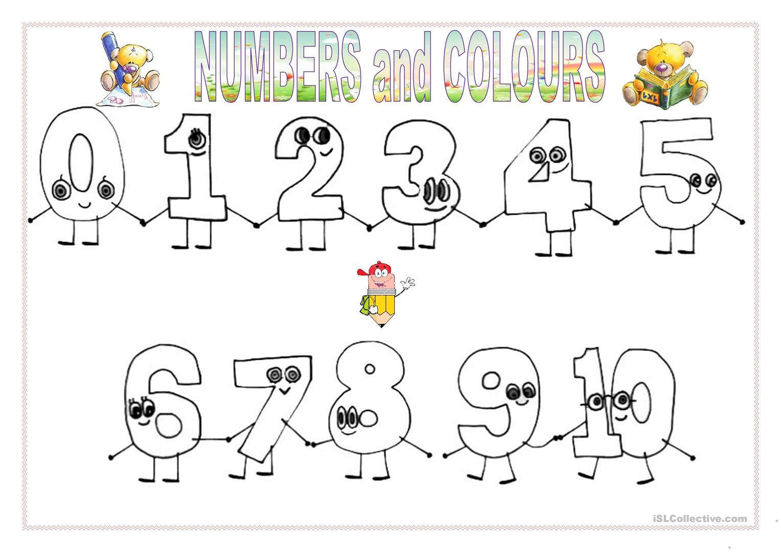 Numbers Amp Colours March