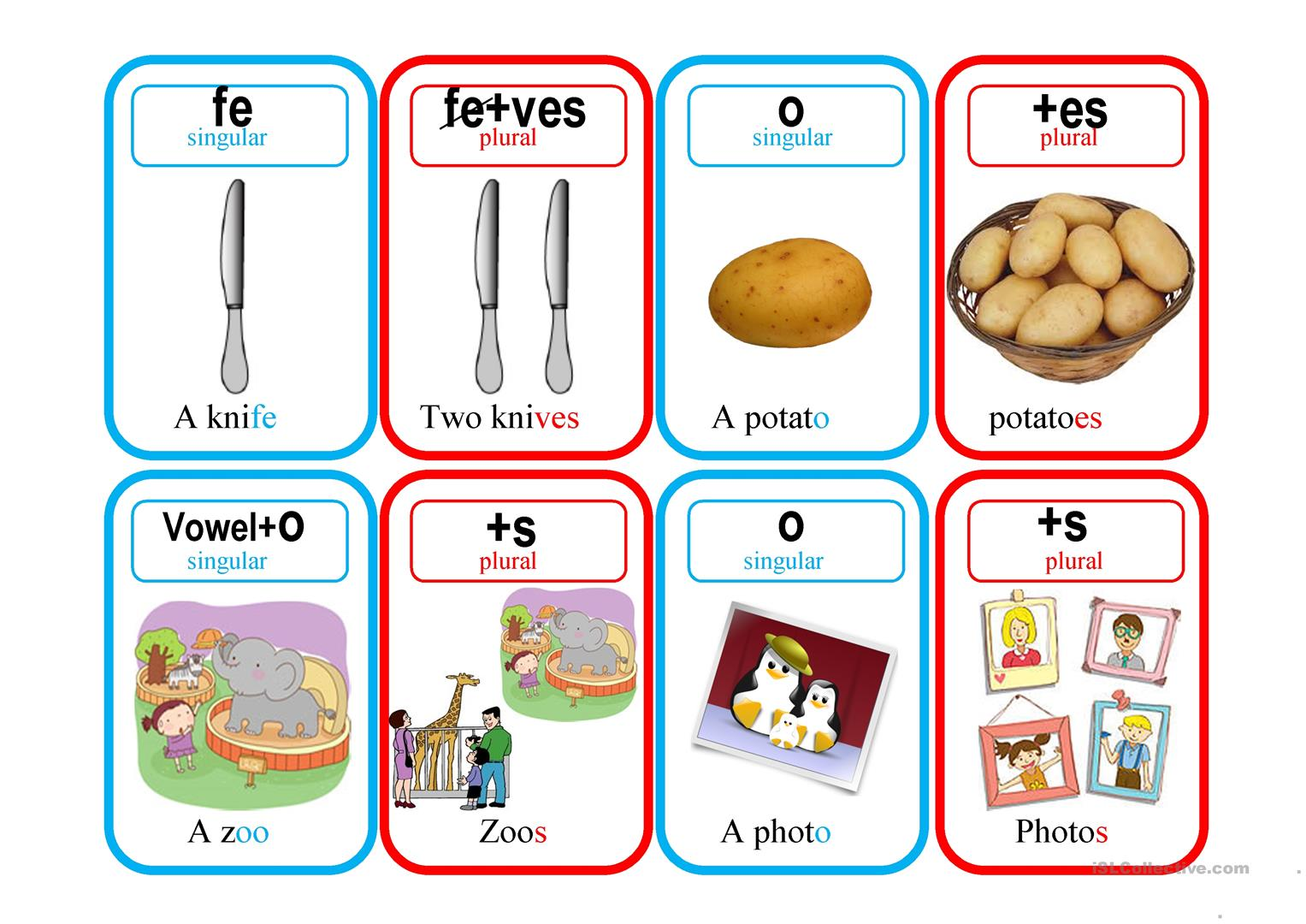 Plurals Go Fish Worksheet