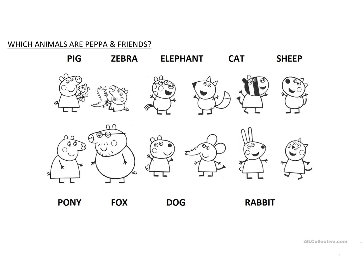 Which Animals Are Peppa Amp Friends