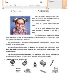 5th form/ 5th grade English Test Classroom Objects/School places/ School  subjects - English ESL Worksheets for distance learning and physical  classrooms [ 1079 x 763 Pixel ]