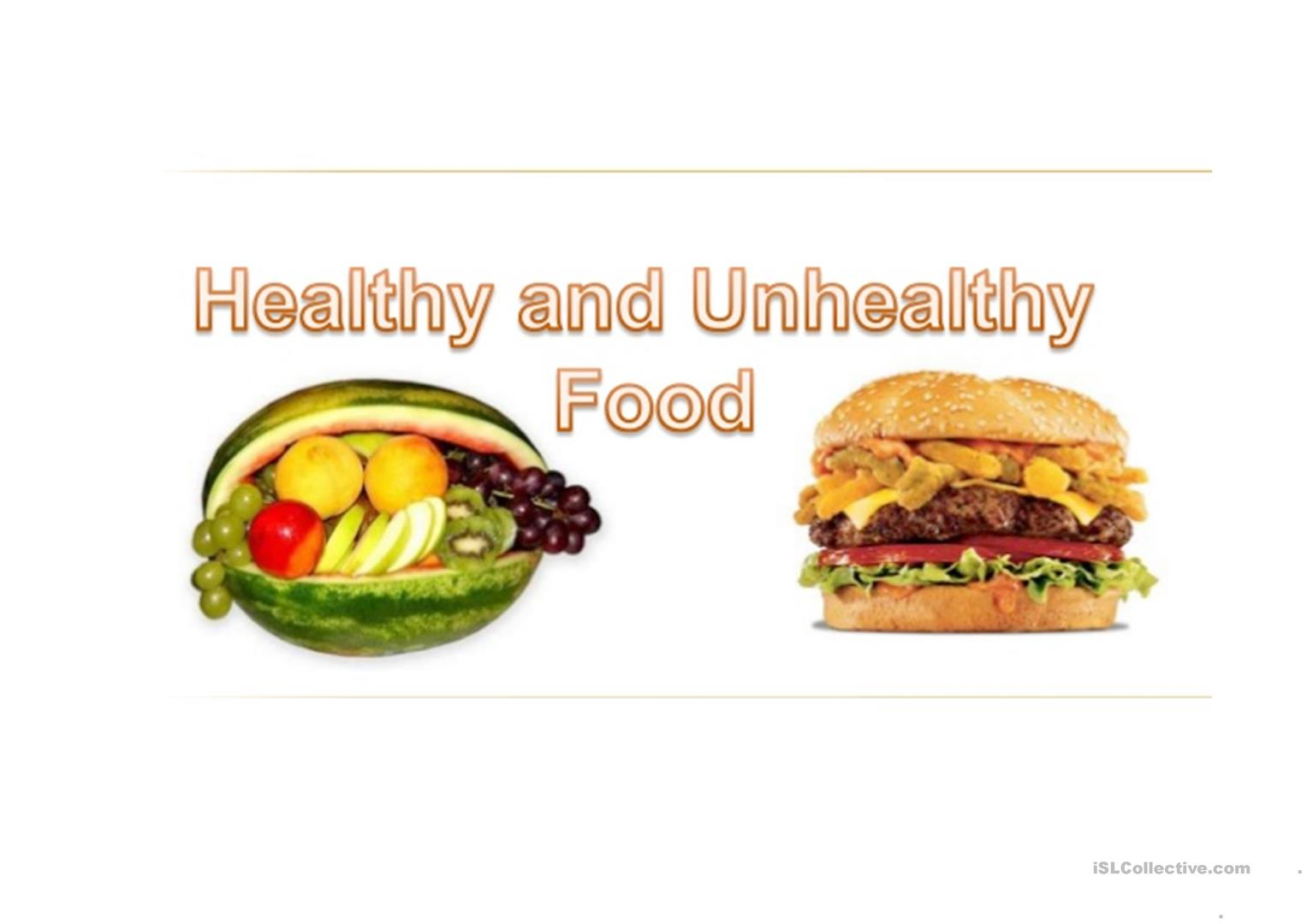 For A Healthy Life Worksheet