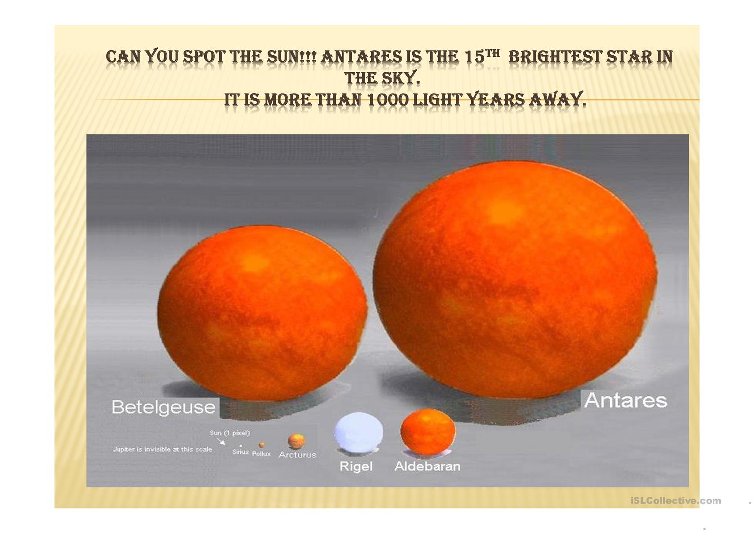 How Big Are You In The Universe Worksheet
