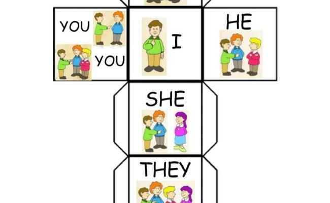 Subject Pronouns Dice English Esl Worksheets For