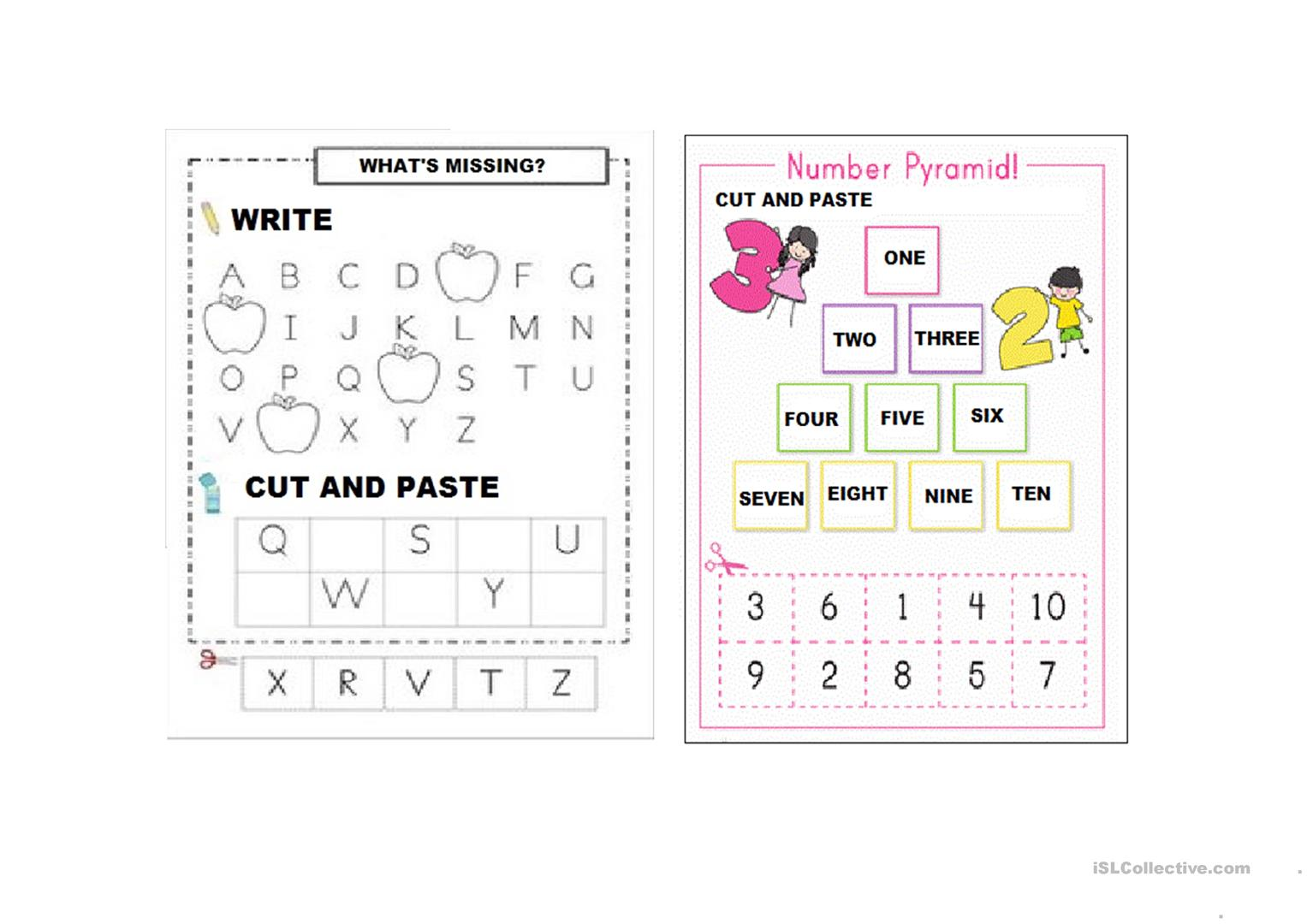 Alphabet Letters And Numbers 1 10 Worksheet