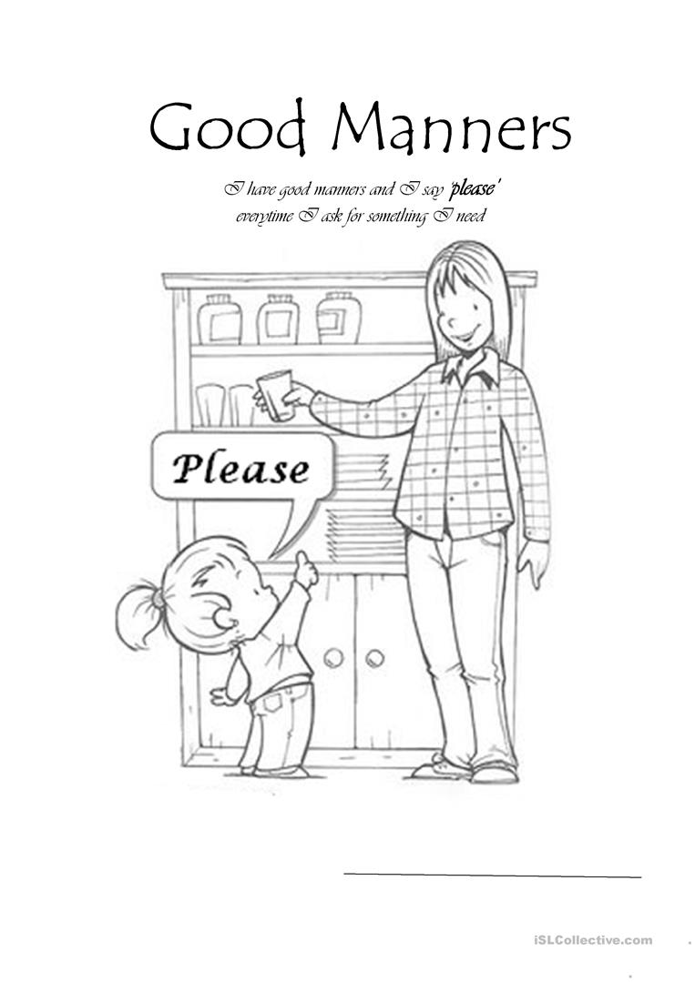 Kindergarten Manners Worksheet. Kindergarten. Best Free