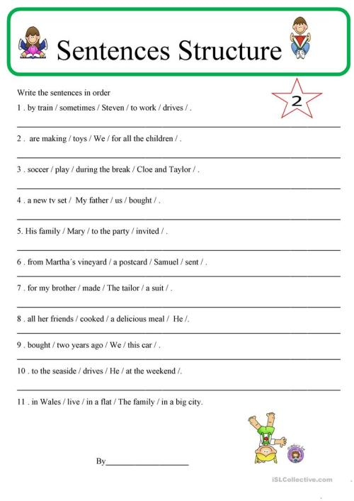 small resolution of English ESL sentence structure worksheets - Most downloaded (45 Results)