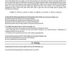 SOCIAL MEDIA - 10th grade test - English ESL Worksheets for distance  learning and physical classrooms [ 1079 x 763 Pixel ]