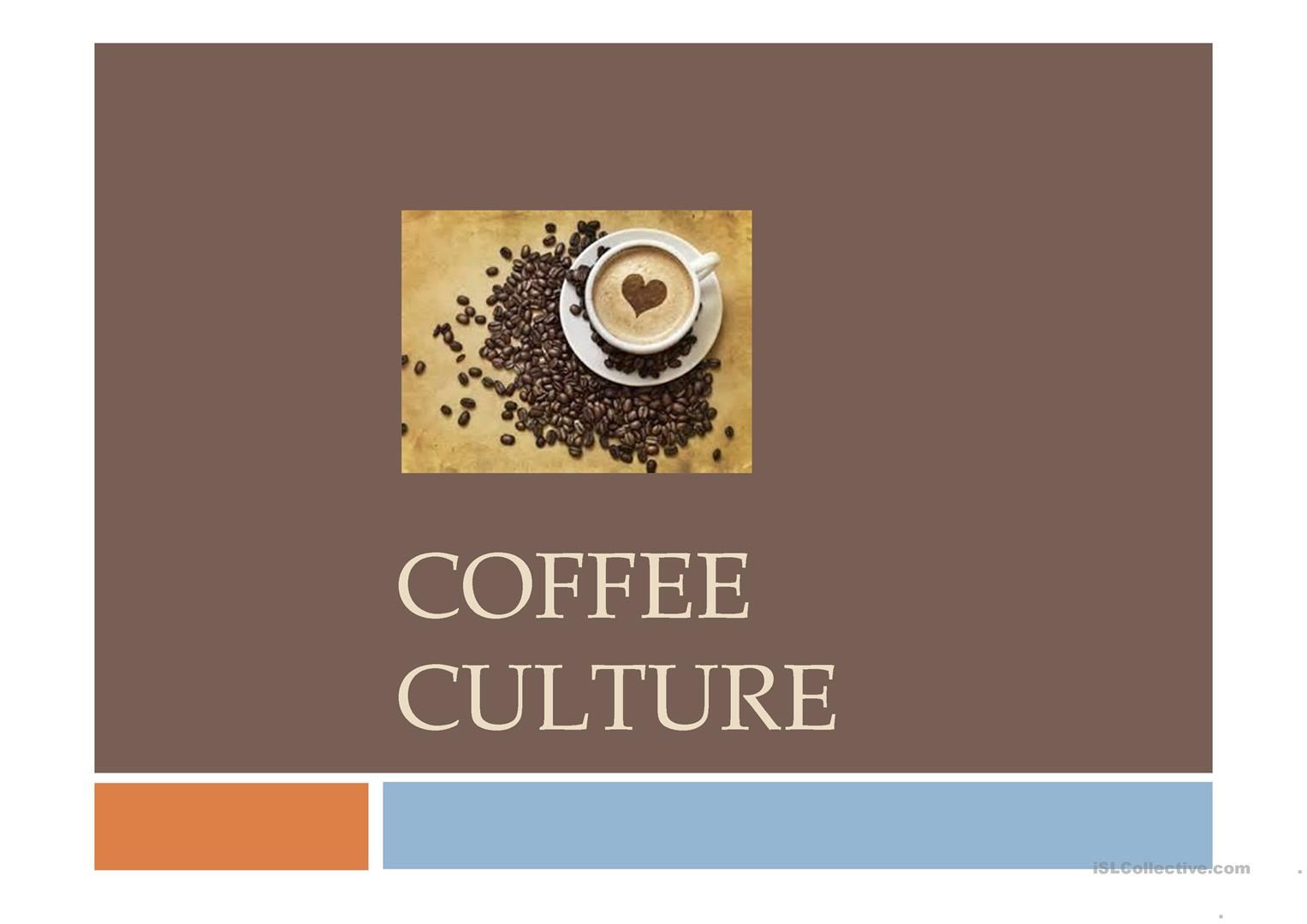 Coffee Culture Worksheet