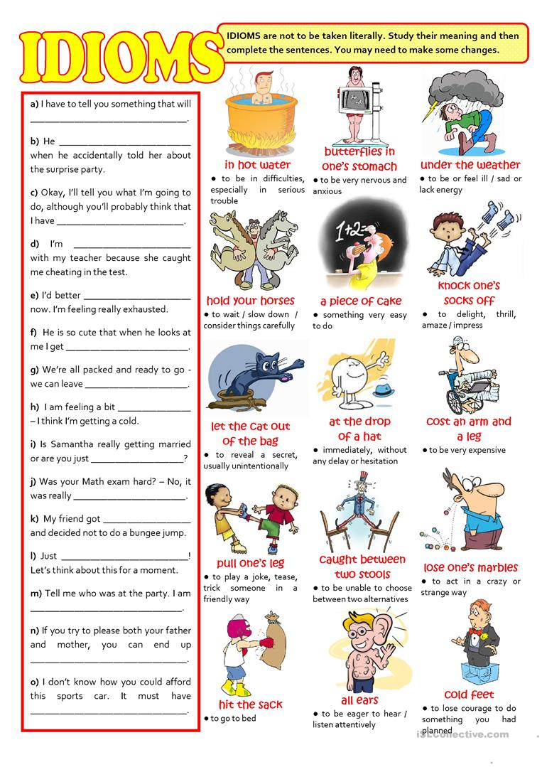 medium resolution of English ESL Idioms worksheets - Most downloaded (444 Results)