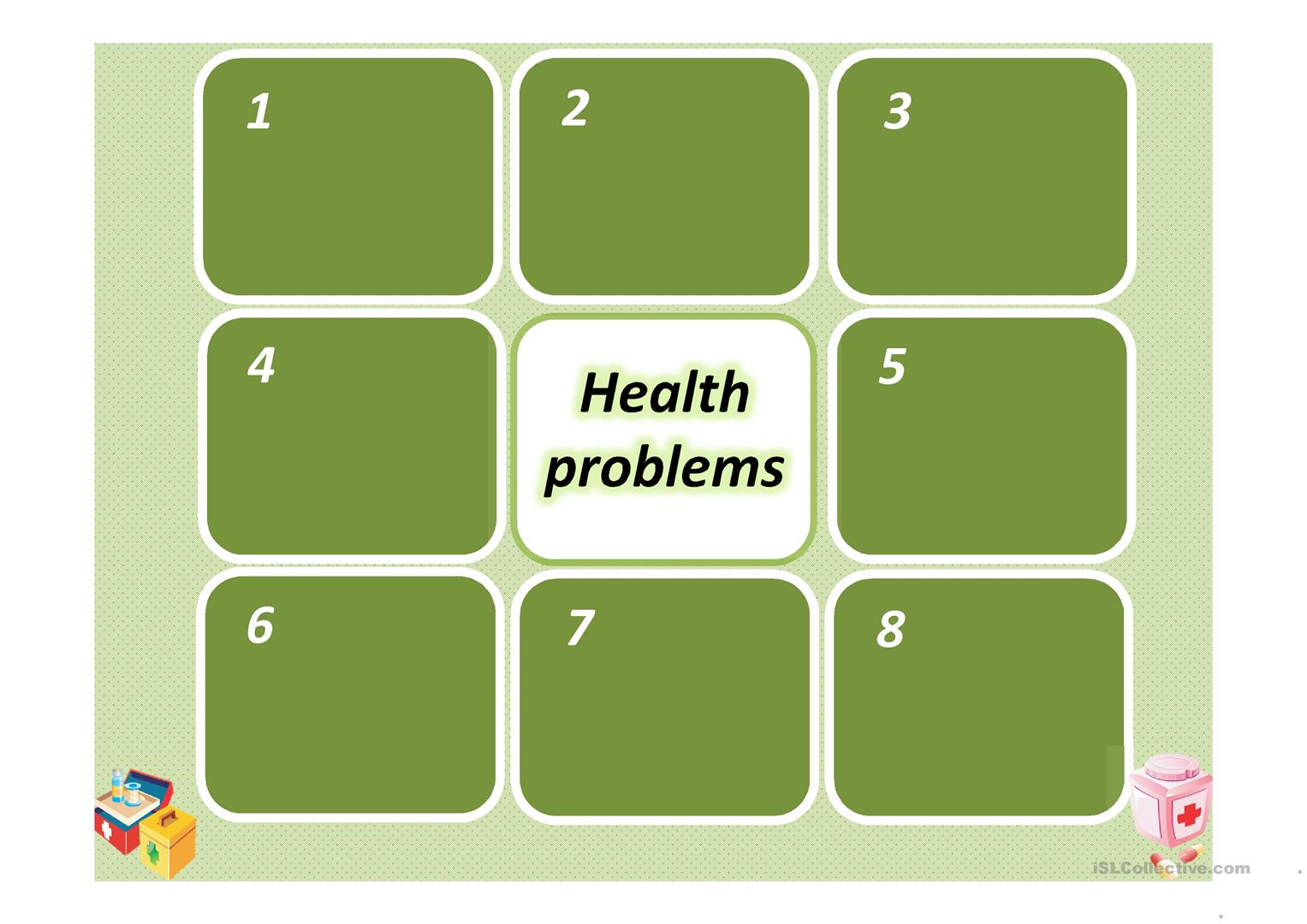 Memory Game Health Problems Worksheet