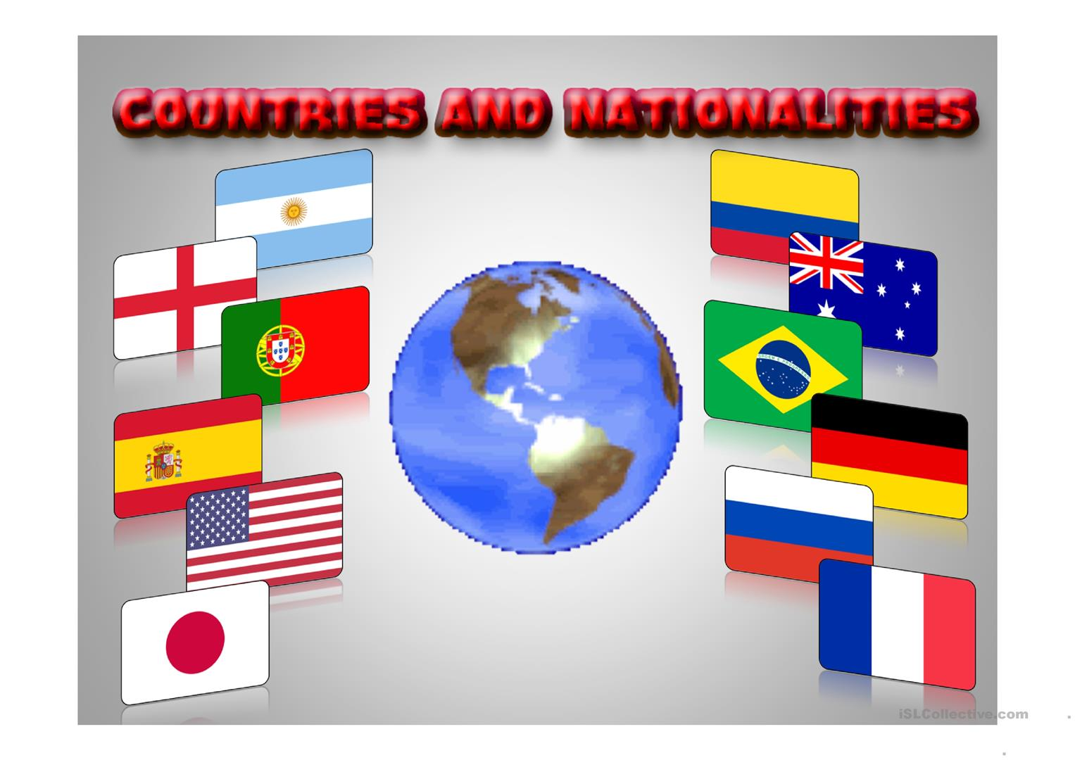 Countries Amp Nationalities Ppp Worksheet