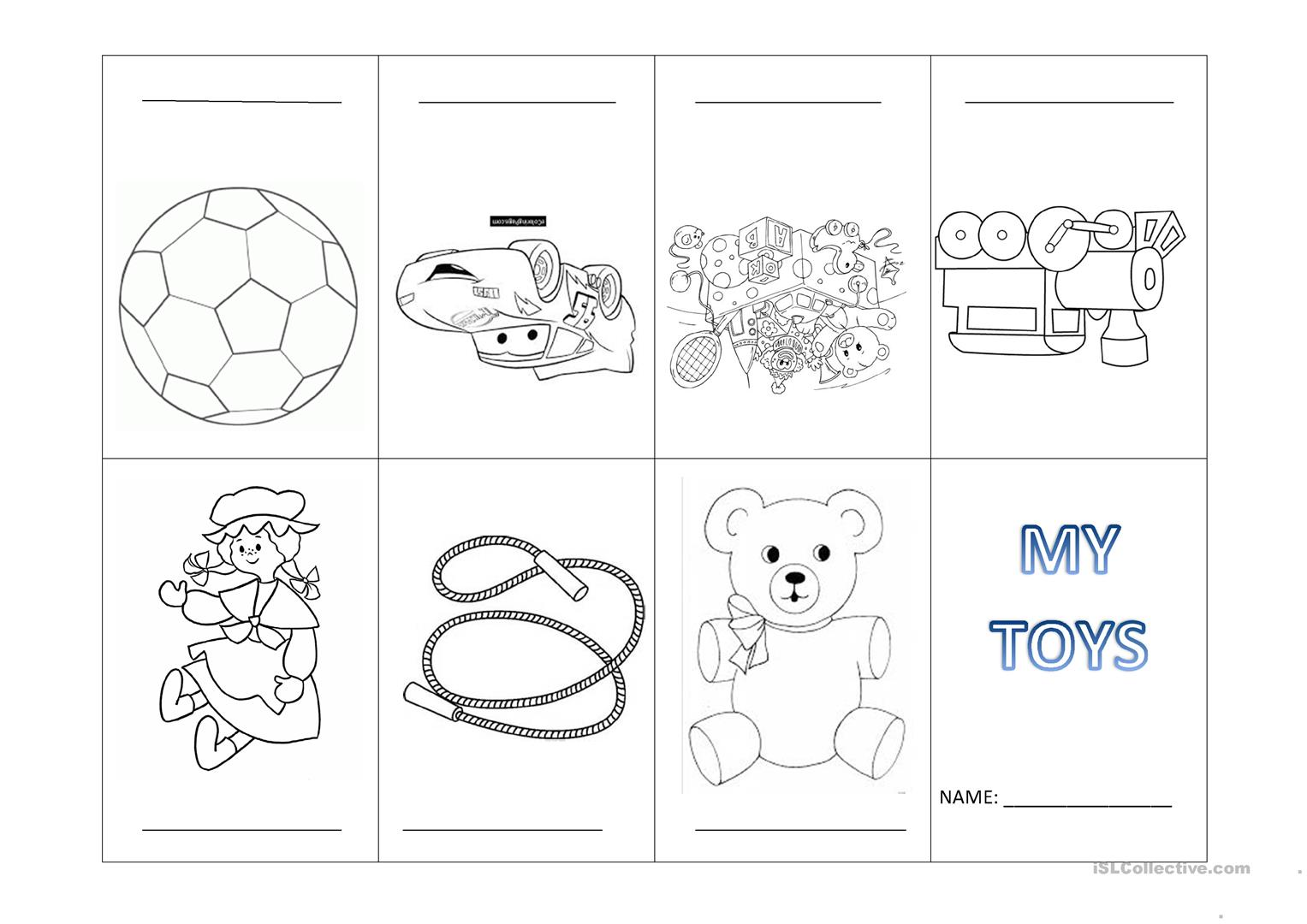 My Toys Mini Book Worksheet
