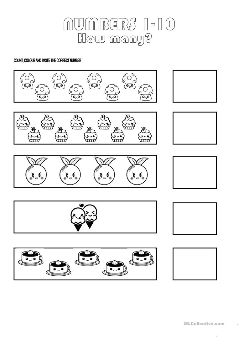 Numbers 1 10 Worksheet English Esl Worksheets For Distance Learning And Physical Classrooms