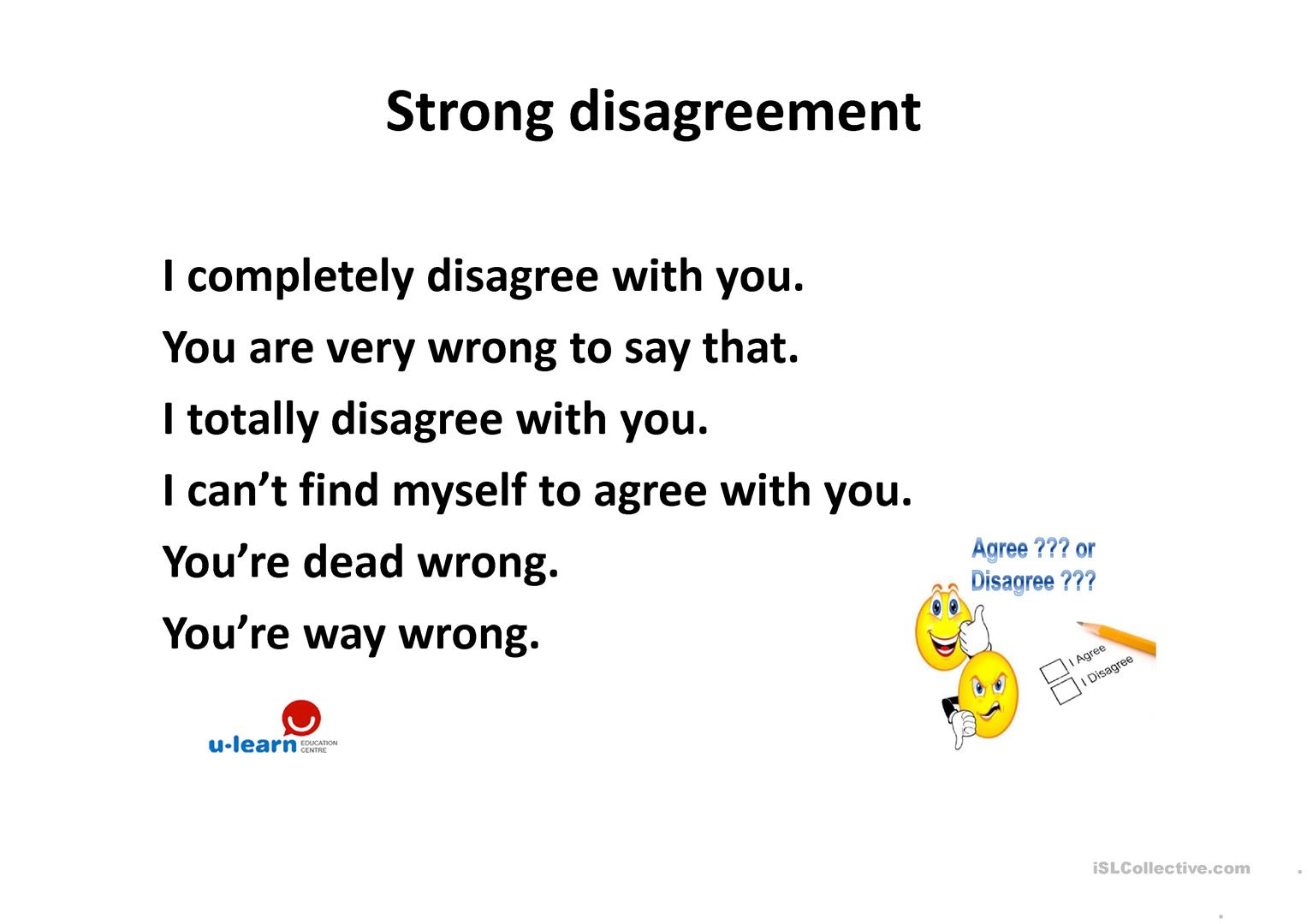 Expressing Agreement And Disagreement