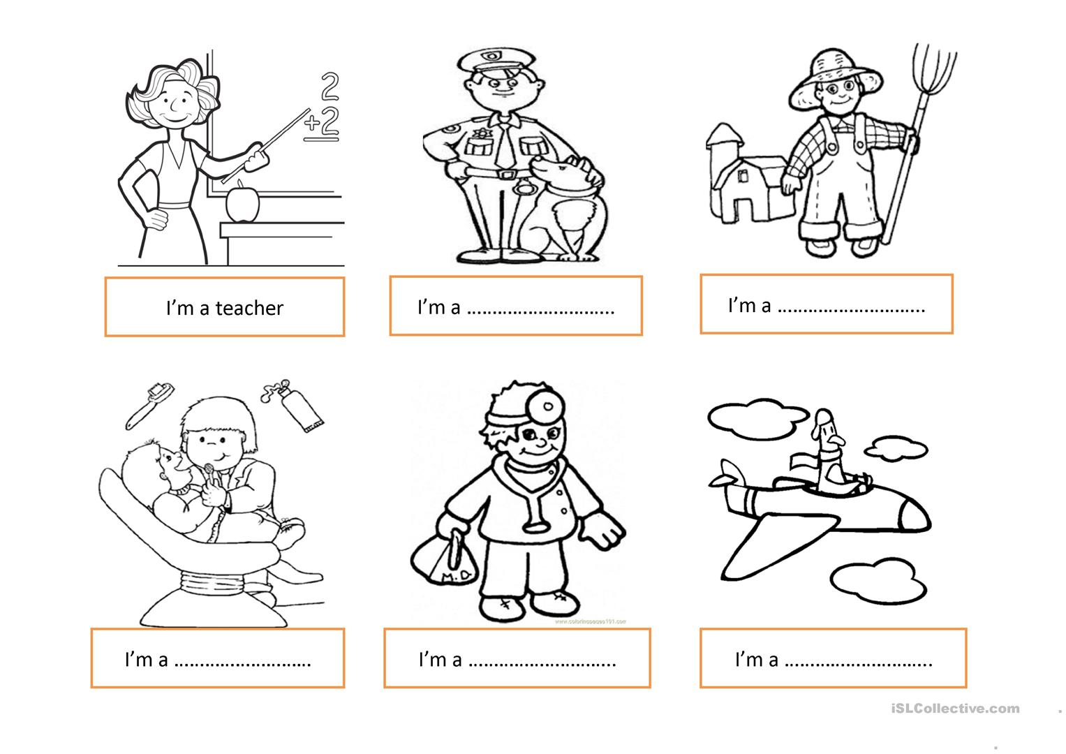 Printables Of Jobs Worksheet For Preschool