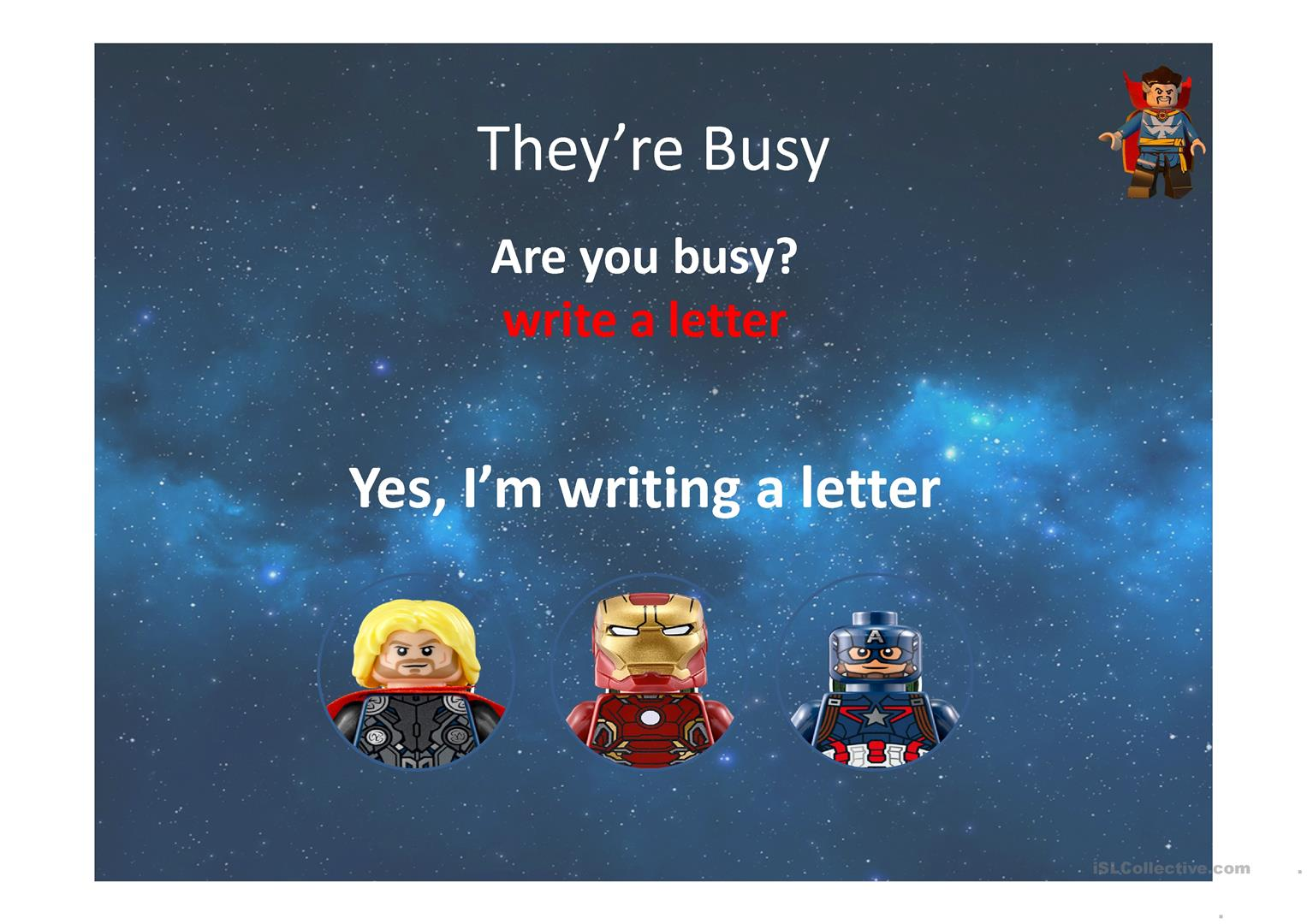 Grammar Review Superheroes Knock Out