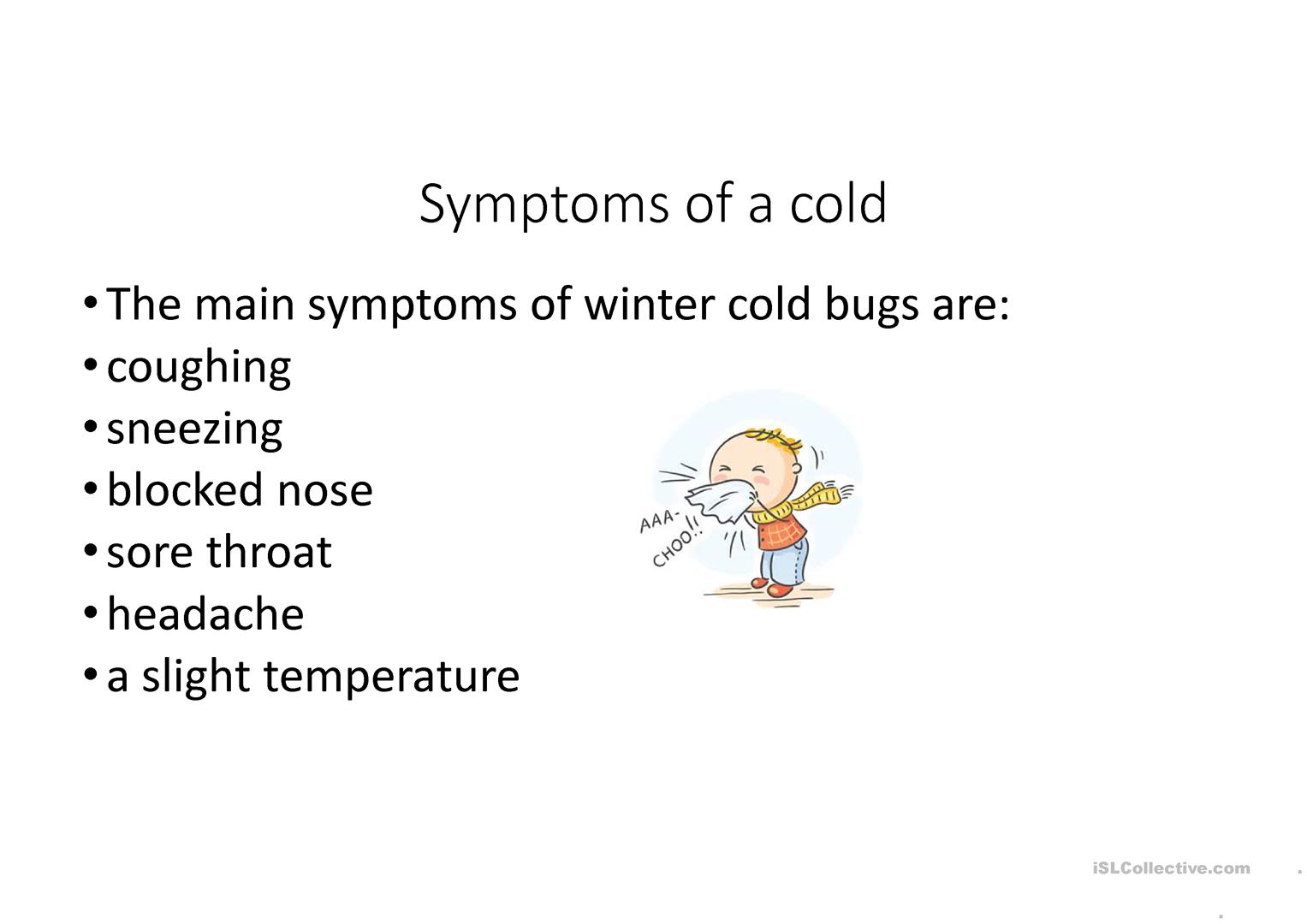 Health And Illness Colds