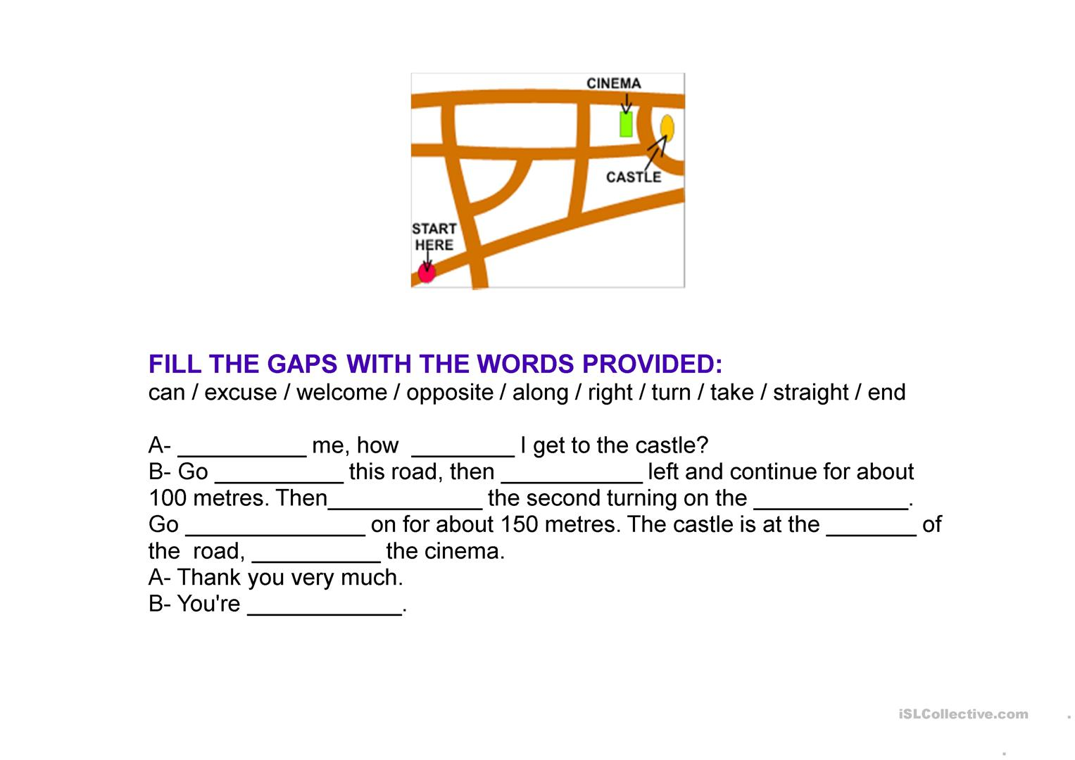 Preposition Worksheet