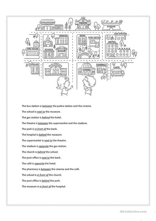 small resolution of Prepositions of place - English ESL Worksheets for distance learning and  physical classrooms
