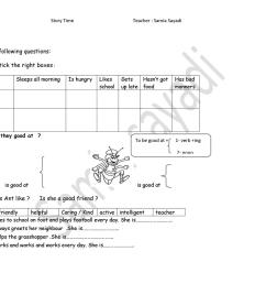 The Ant And Grasshopper Worksheet   Printable Worksheets and Activities for  Teachers [ 1080 x 1527 Pixel ]