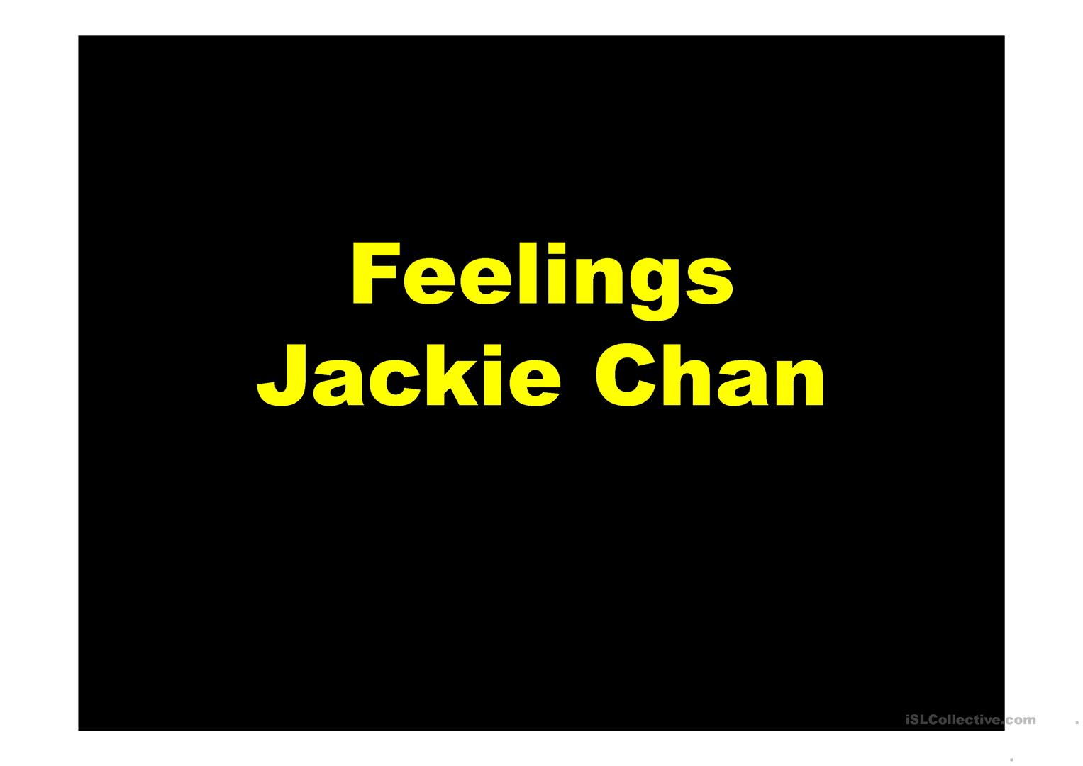 Feelings Jackie Chan Worksheet