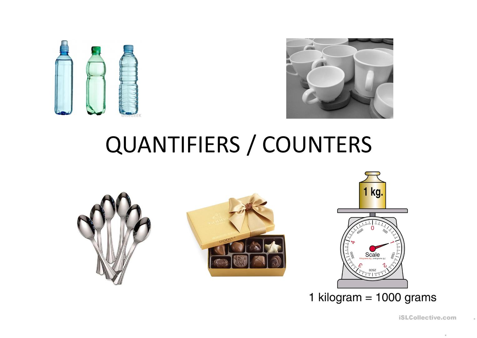 Quantifiers Counters Worksheet