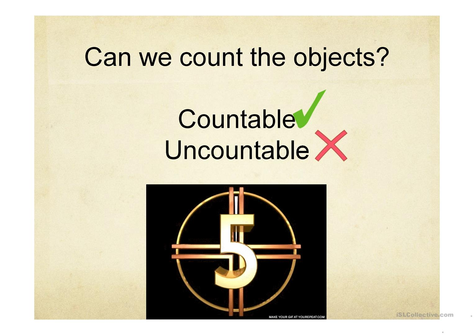 Countable And Uncountable Nouns Quantifiers