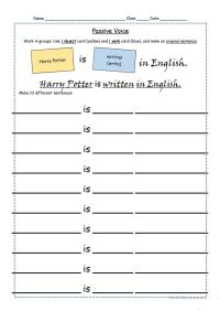 Passive voice - worksheet and game cards. worksheet - Free ...