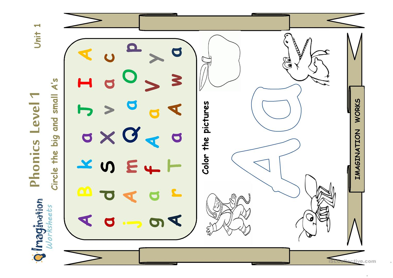 Phonics Letter A Worksheet