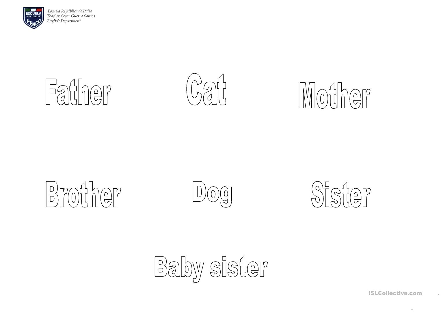 Family Simpson Cut And Paste Worksheet