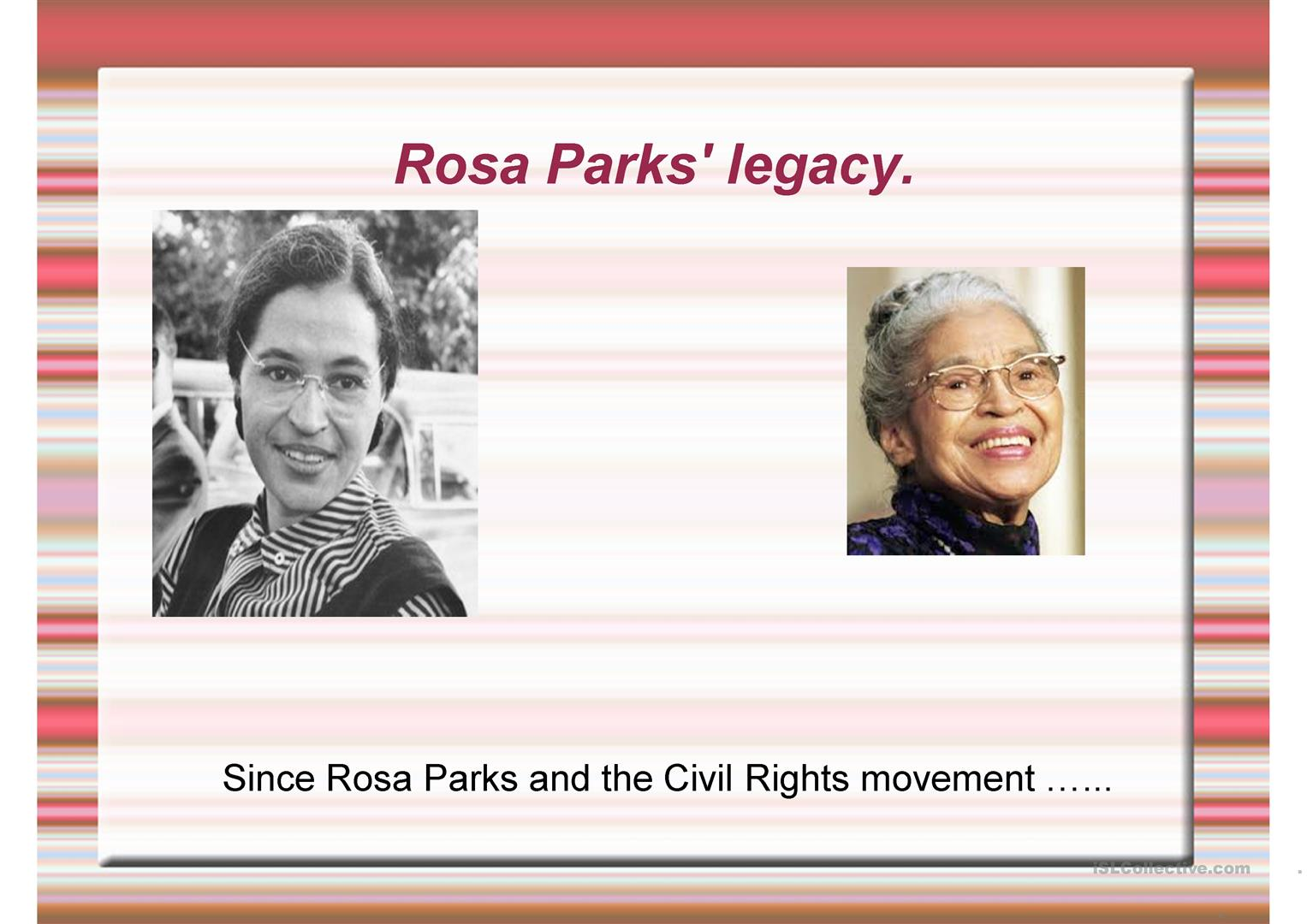 Rosa Parks Legacy Worksheet