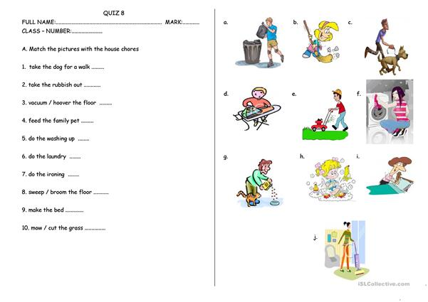 House Chores And School Rules Worksheet Templates Layouts