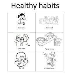 Healthy habits - English ESL Worksheets for distance learning and physical  classrooms [ 1079 x 763 Pixel ]
