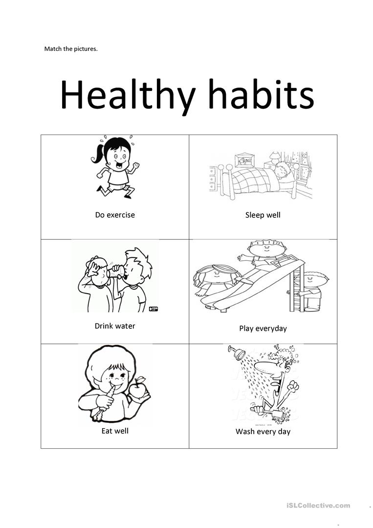 medium resolution of Healthy habits - English ESL Worksheets for distance learning and physical  classrooms