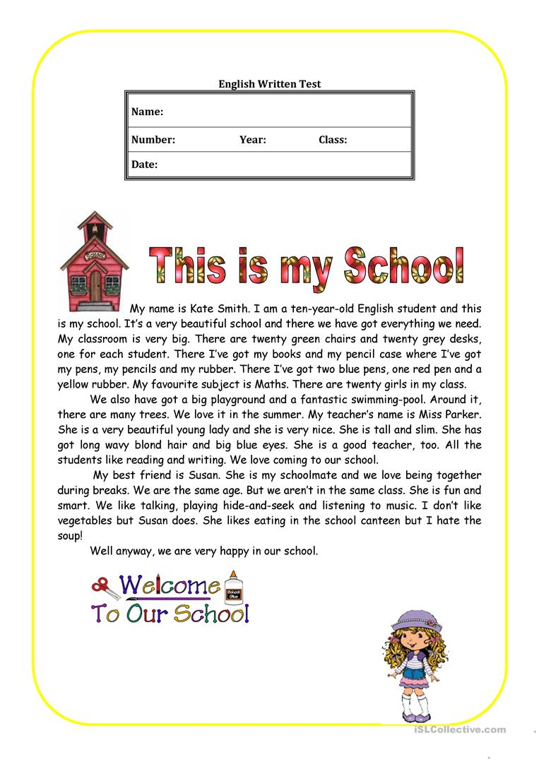 medium resolution of This is my school - English ESL Worksheets for distance learning and  physical classrooms