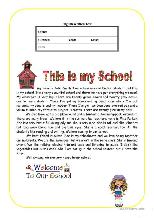 small resolution of This is my school - English ESL Worksheets for distance learning and  physical classrooms