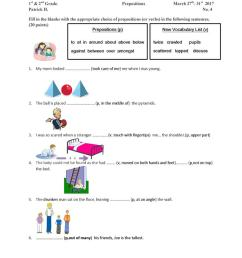 Preposition and Vocabulary Worksheet - English ESL Worksheets for distance  learning and physical classrooms [ 1079 x 763 Pixel ]