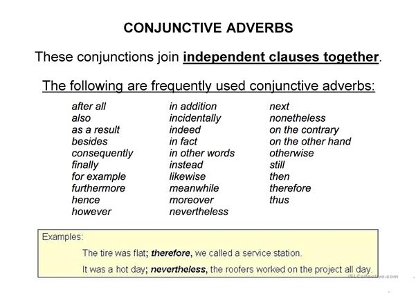 coordinating conjunctions fanboys english