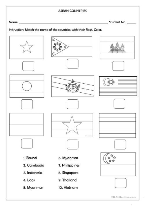 small resolution of ASEAN Countries - English ESL Worksheets for distance learning and physical  classrooms