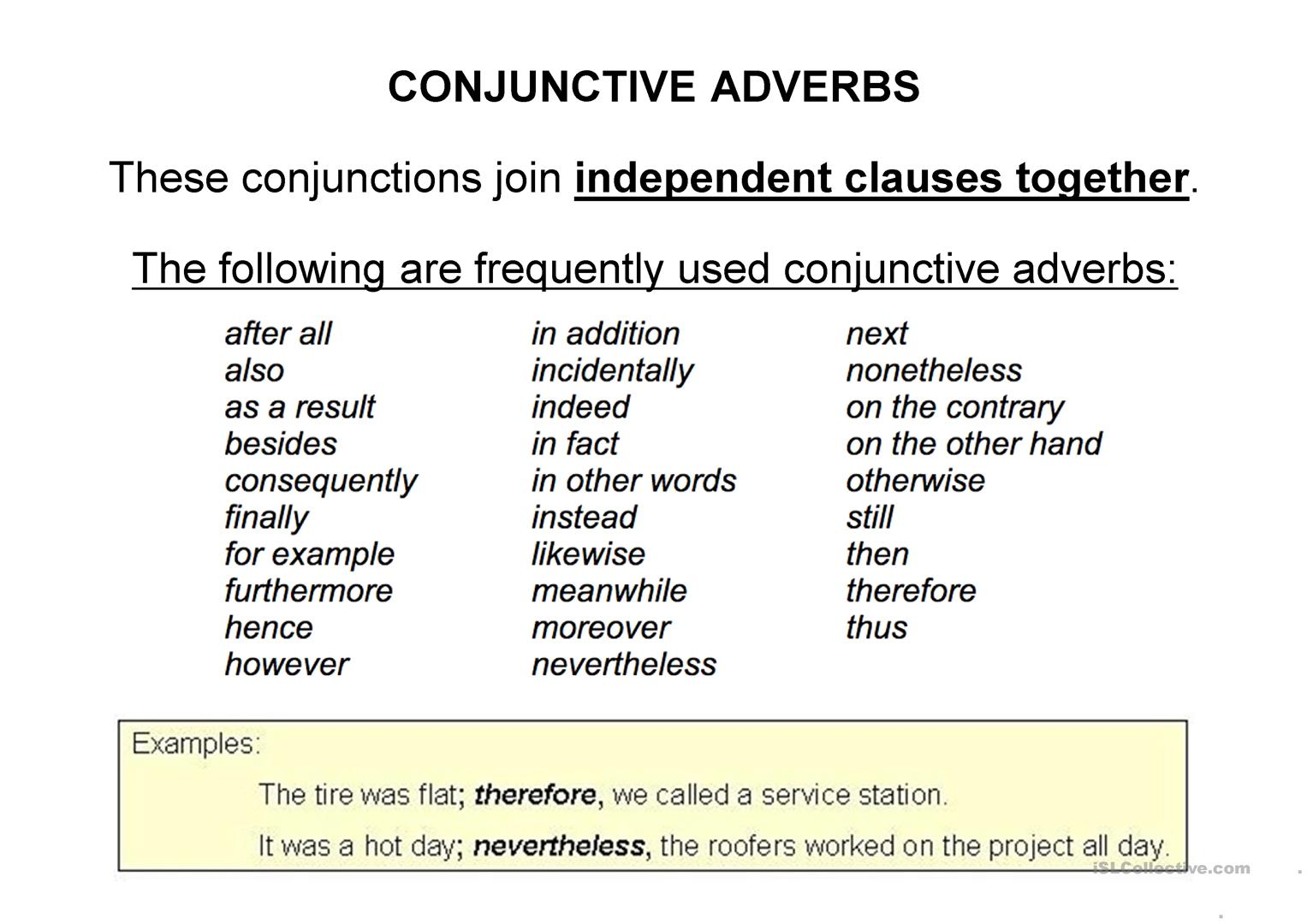 Coordinating Conjunctions Fanboys