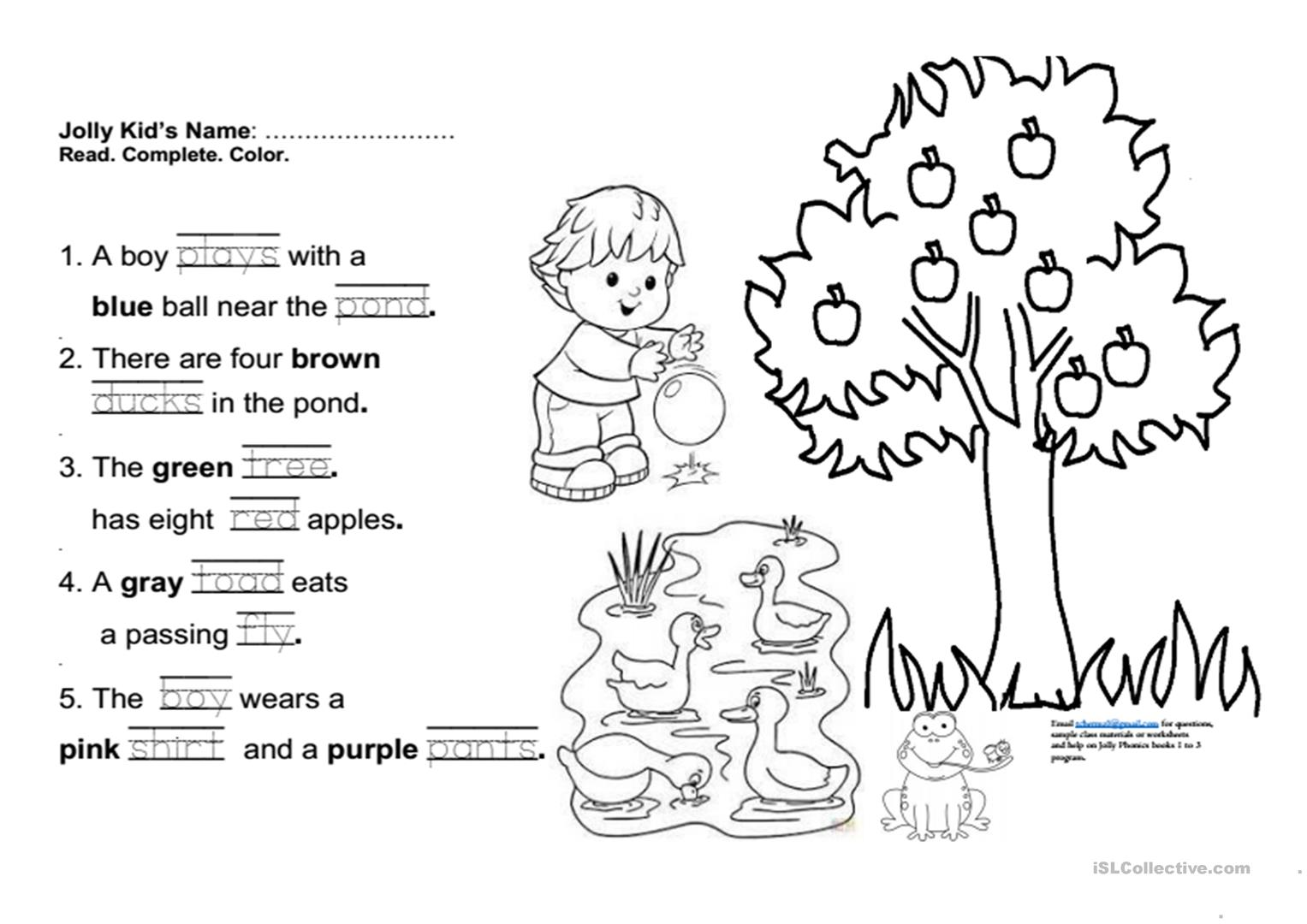 Jolly Phonics Book 3 Fun Final Test