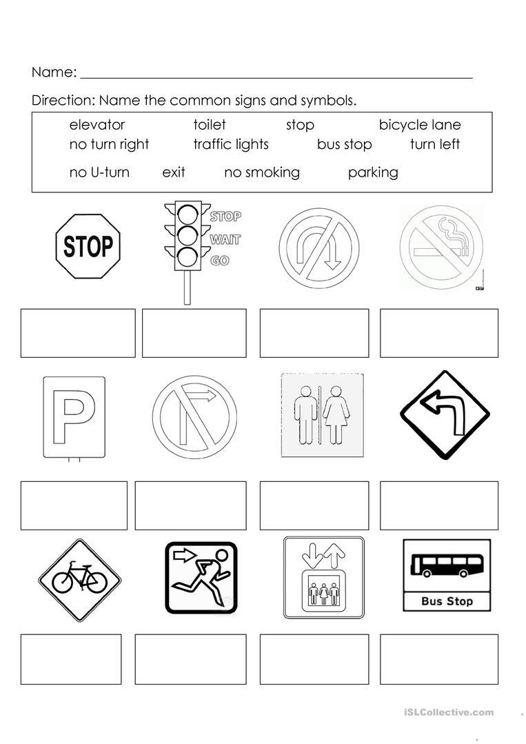 hight resolution of Signs and Symbols - English ESL Worksheets for distance learning and  physical classrooms