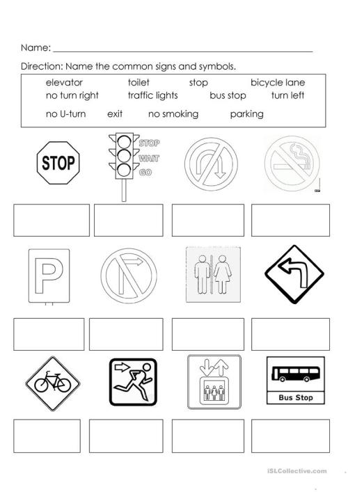 small resolution of Signs and Symbols - English ESL Worksheets for distance learning and  physical classrooms