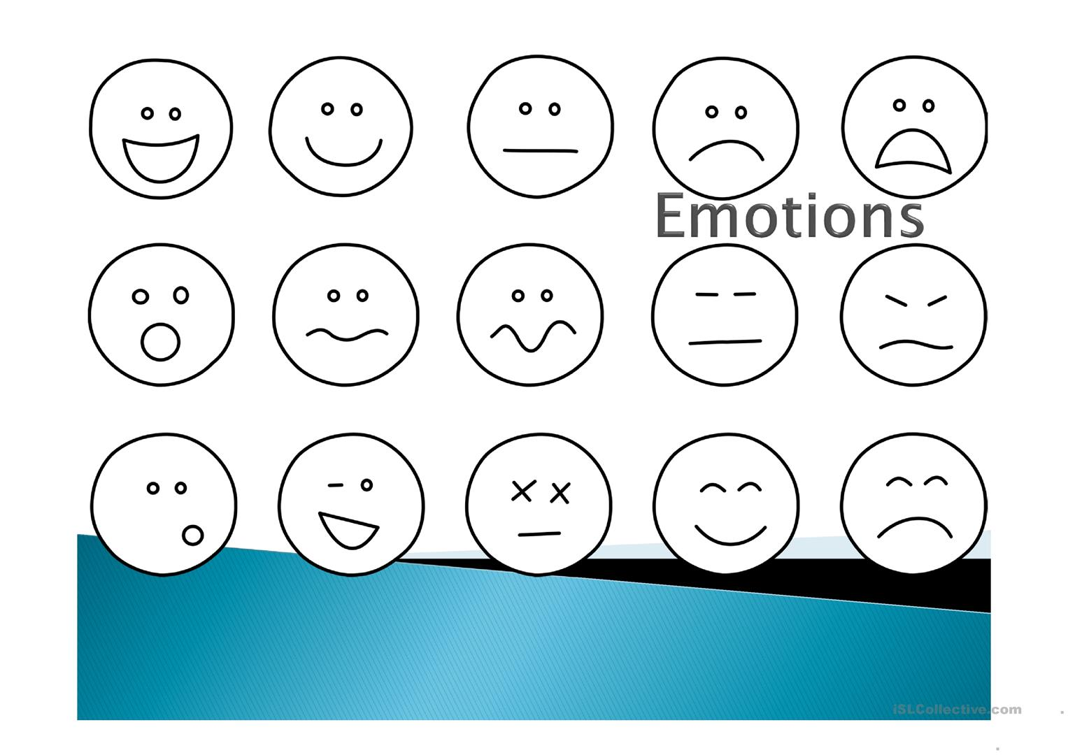 Emotions Speaking Tasks Worksheet