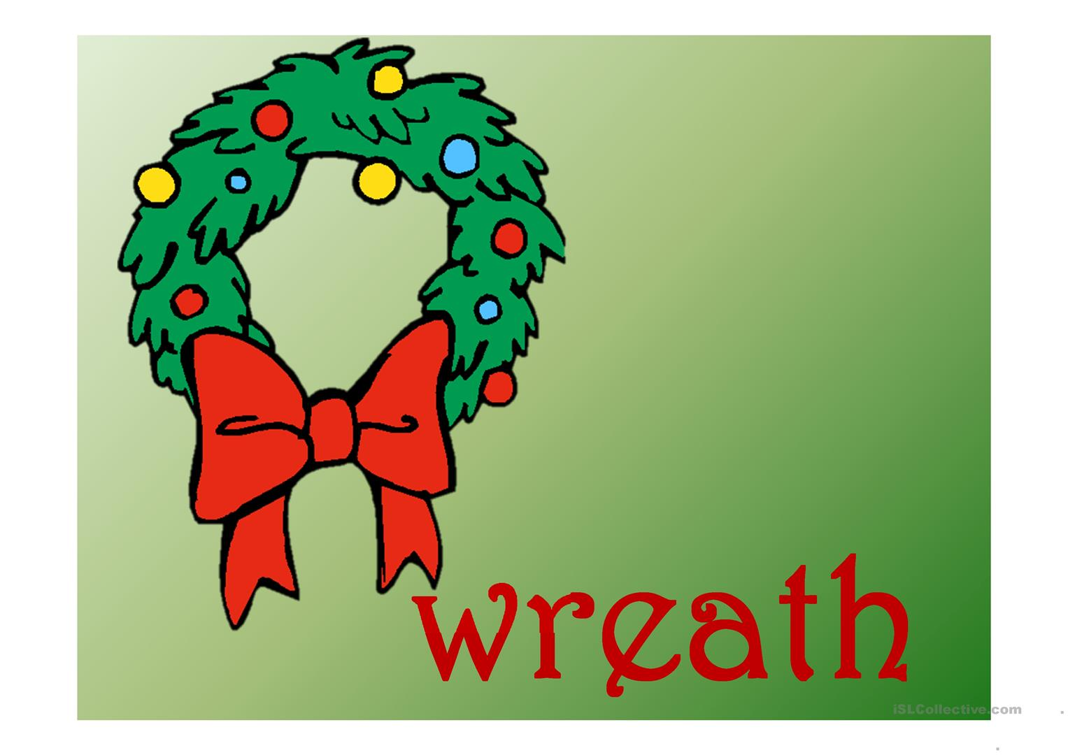 Christmas Vocabulary Present Continuous Worksheet
