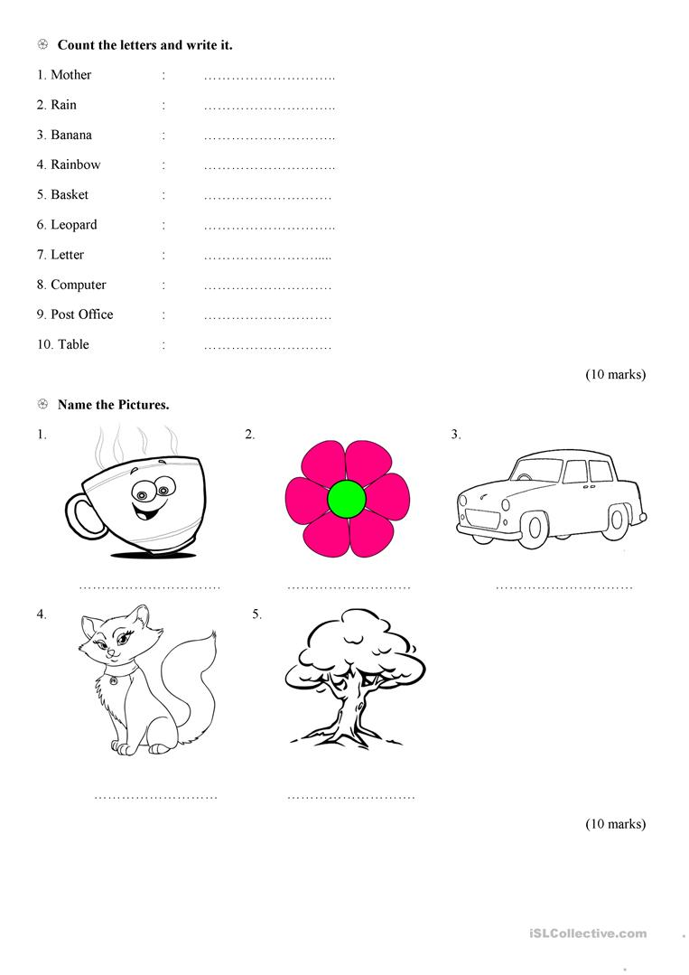 Grade 1 English Worksheet by Tharahai Institution