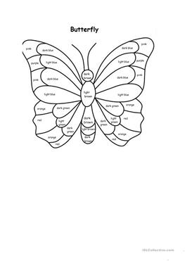 23 FREE ESL butterfly worksheets