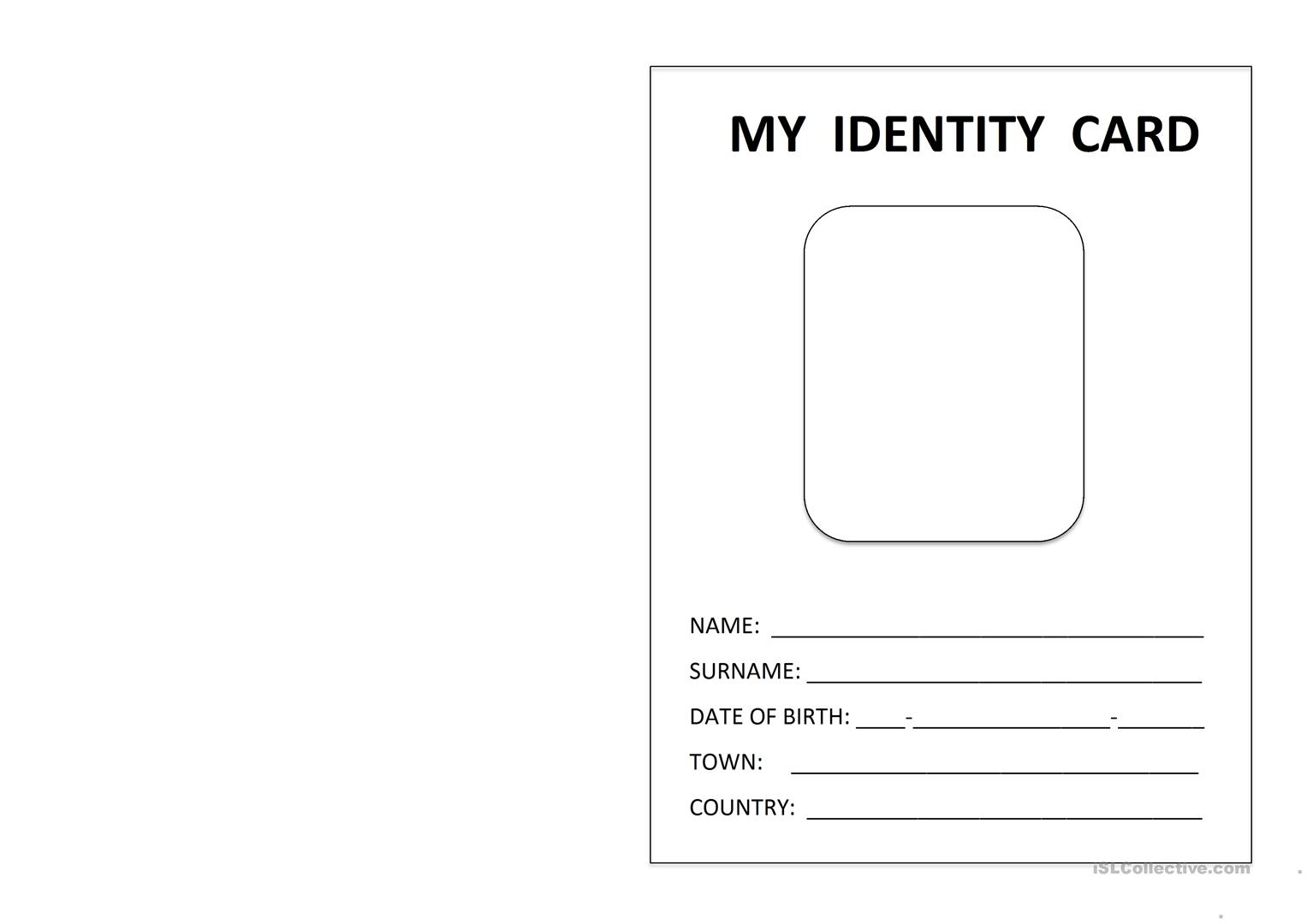 Printable Id Card