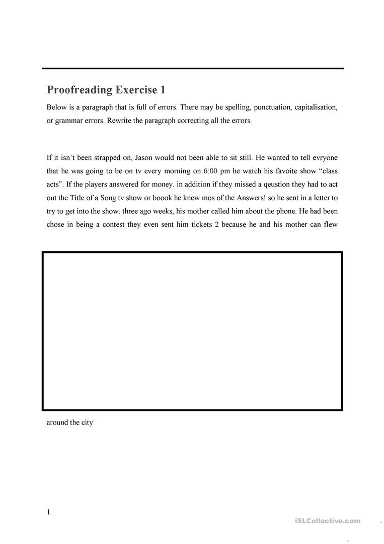 medium resolution of Proofreading WS - English ESL Worksheets for distance learning and physical  classrooms