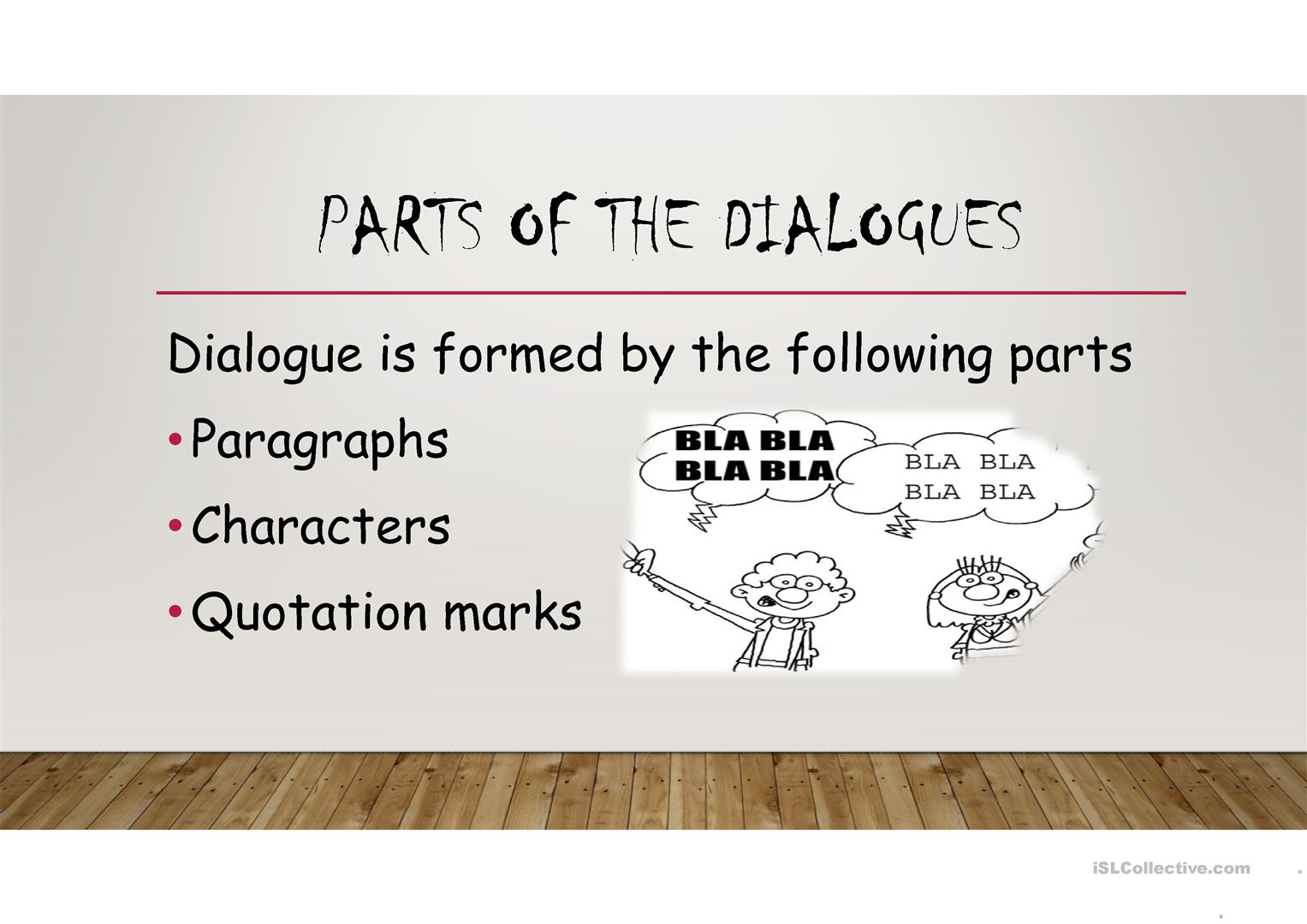 Dialogue Worksheet